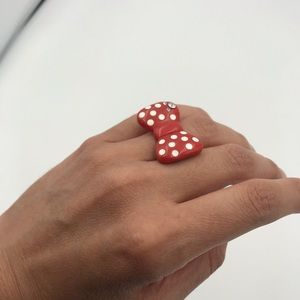 Disney | Bow polka dot ring